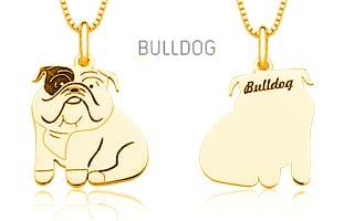 Pingente Mandala Pet Bulldog