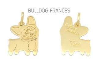 Pingente Mandala Pet Bulldog Francês