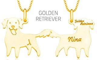 Pingente Mandala Pet Golden Retriever