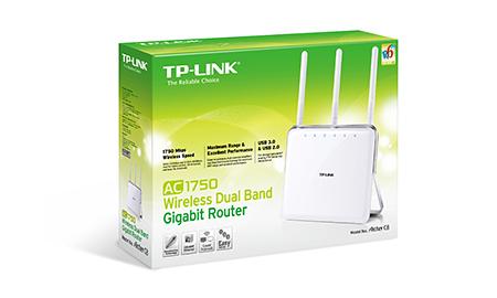 Roteador TP Link Wireless Ac Gigabit Banda Dupla Ac1750 Archer C8