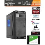 Computador - PC Gamer Basic Amd A4 7300 4ghz Apu Radeon Hd8470d Memória de 4gb + Hd SSD + Acessorios
