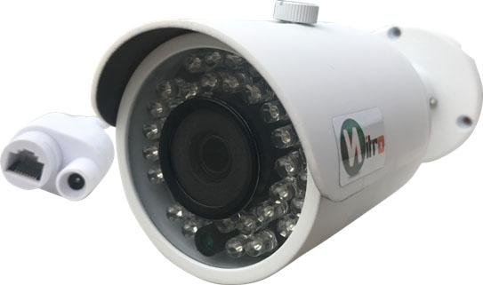 Camera Ip Onvif 2.4 Super Hd 4mp 1440p 2592x1520 3,6mm Ir 40mt Ip66 P2p Bullet  36 Leds H.264
