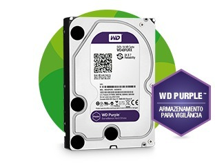 Kit Intelbras Dvr 4 Canais Multi Hd 1004 G3 1080n 5 Em 1 + 4 Câmeras Tvi 720p 1mp + Hd 1tb Purple Wd