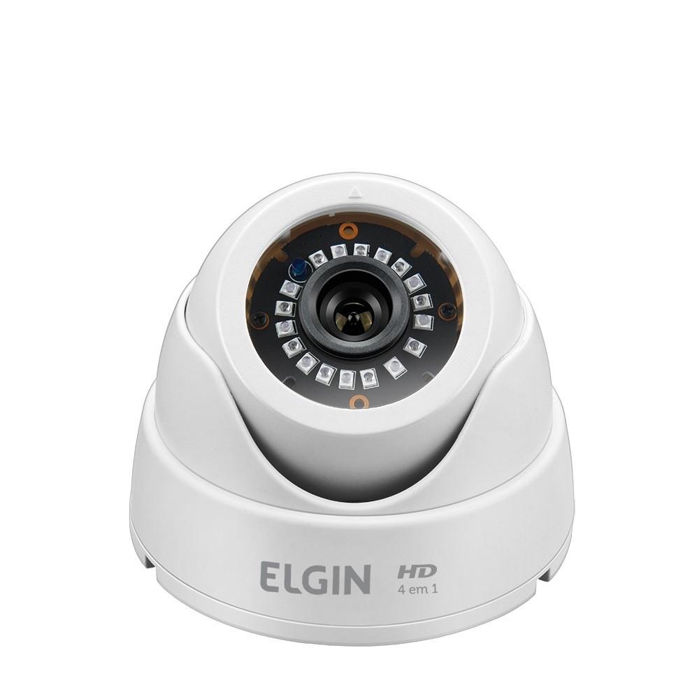 Camera Elgin Dome 4 em 1 720p 1 Megapixel AHD CVI TVI CVBS 2,8mm Angulo de Visao 82º 18 Leds SMD IR 25 Metros
