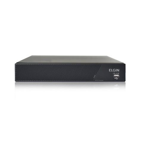 Kit CFTV Elgin DVR 4 Canais 1080N 4 Cameras Dome AHD 720P 1 Megapixel 2,8mm 18 Leds SMD IR 25 Metros Angulo de Abertura 82º