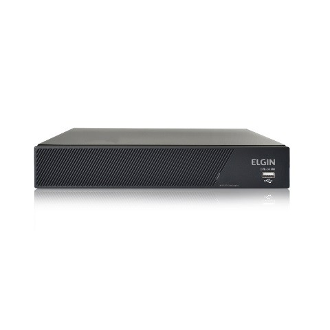 DVR Elgin 4 Canais 1080N AHD Compressão de vídeo H.264 Suporte para câmera IP e ONVIF Suporta um HD STATA de até 6TB