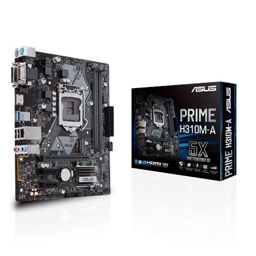 Computador - PC Gamer Intel Core i7 8700 3.2Ghz - ASUS H310M-A PRIME - Memória DDR4 8gb - HD Ssd 120gb + HD 1tb