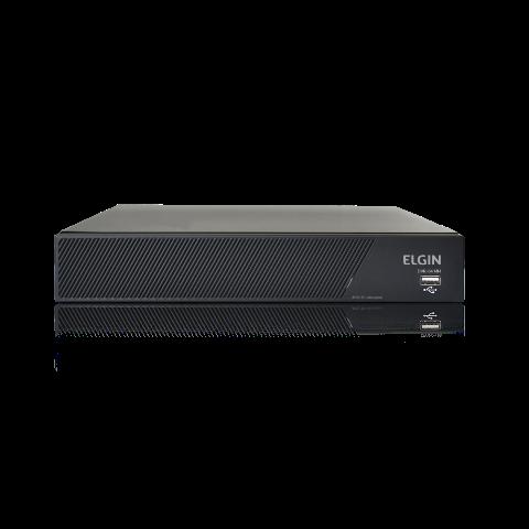 DVR Elgin 8 Canais 5 em 1 1080N AHD Compressão de vídeo H.264 Suporte para câmera IP e ONVIF Suporta um HD SATA de até 6TB