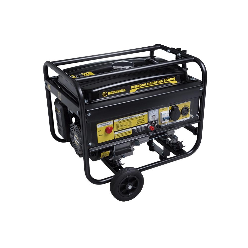 Gerador à gasolina 3Kva 4 Tempos 6,5hp 3500 - Matsuyama