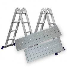 Escada 4x3 12 Degraus Articulada Plataforma 150kg