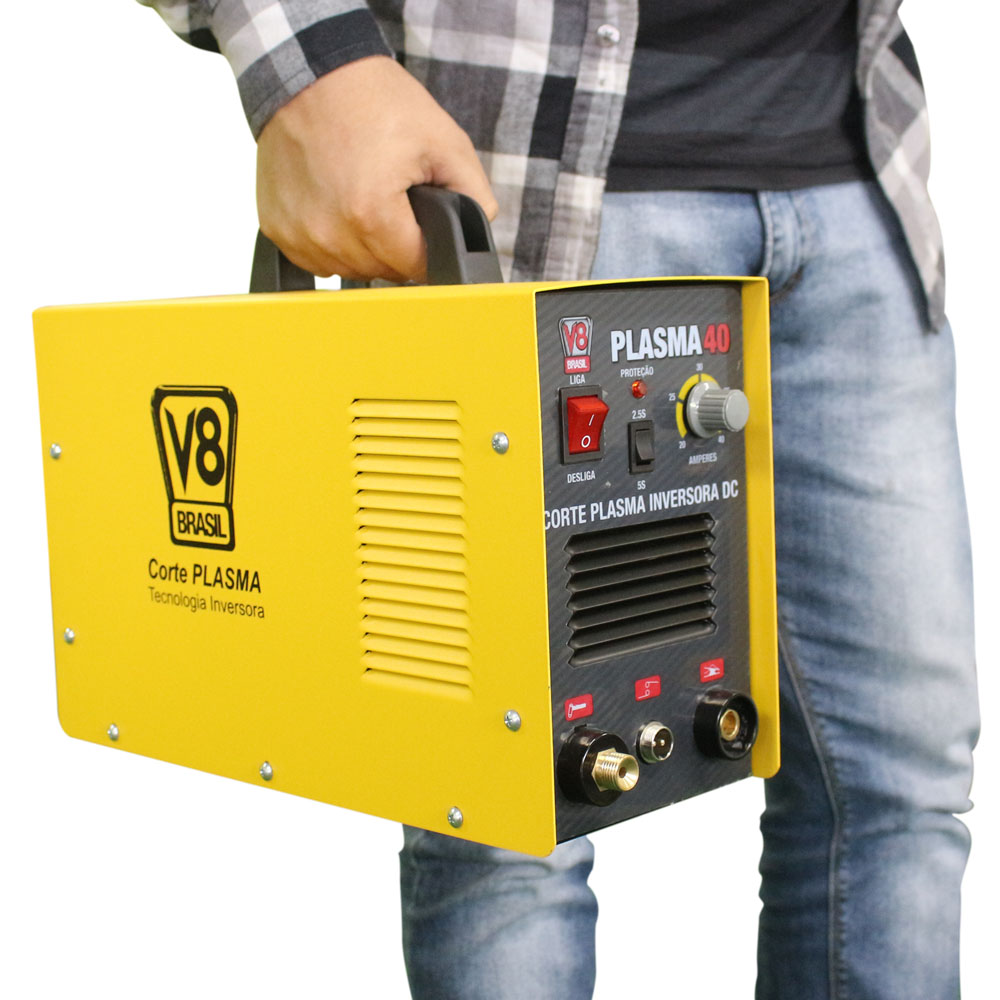 Máquina de Corte Plasma CUT 40 220v Monofásica - V8 Brasil