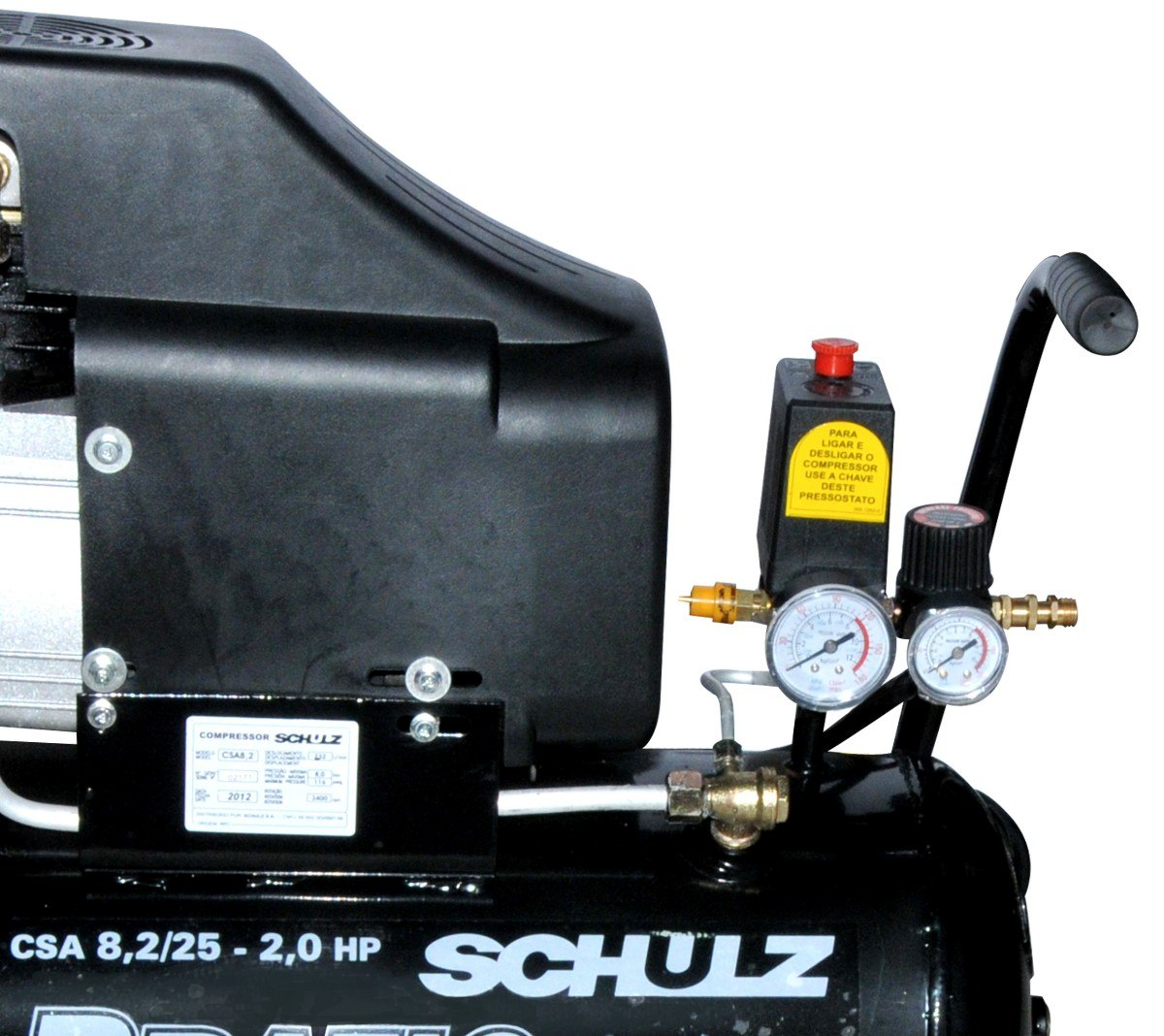 Compressor de Ar CSA 8,2 25l  Pratic Air - SCHULZ