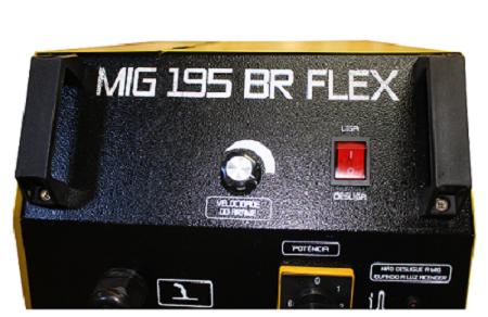 Máquina de Solda Mig 195 BR Flex - V8 Brasil