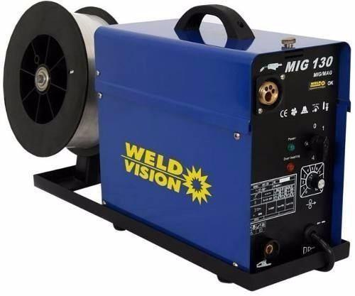 Maquina De Solda Mig Mag Mig 130a 220v Aluminio - Weld Vision