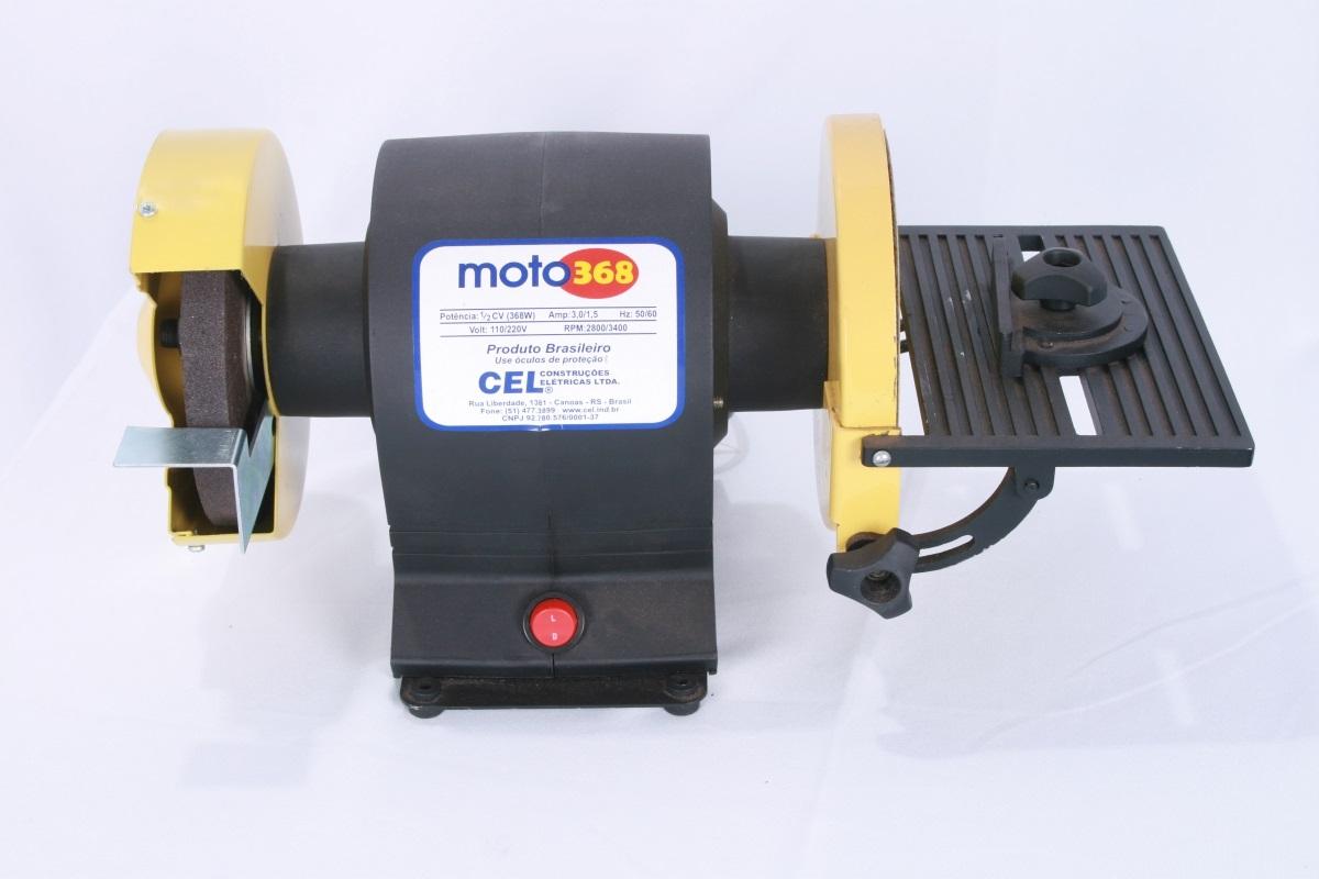 Lixadeira Moto 368 Mesa Regulável Lixa e Disco 1/2cv Bivolt - CEL