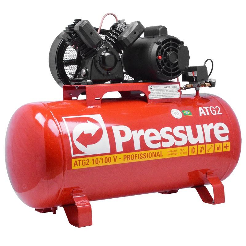 8ddd7ec3a ... Compressor de Ar 10 Pés 100 Litros Monofásico - Pressure - Refer  Comércio Máquinas e Ferramentas ...