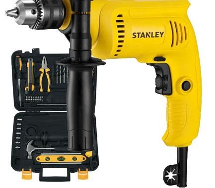 Furadeira de Impacto 600w com Matela Kit Ferramentas e Acessórios - Stanley 220v