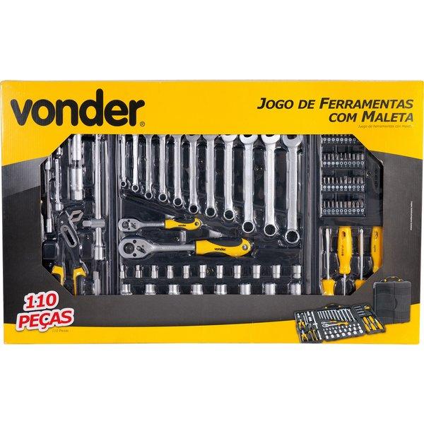 Jogo de Ferramentas com maleta 110 peças Vonder