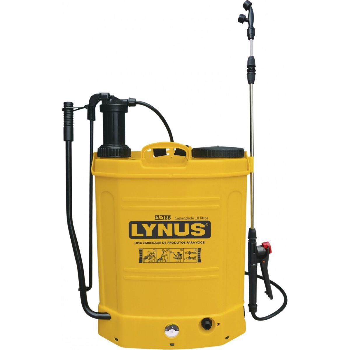 Pulverizador Costal 2 em 1 a Bateria/Manual 18l Lança em Aço - Lynus