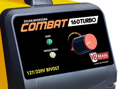 Máquina de Solda Inversora Combat 160 Turbo Bivolt -  V8 Brasil