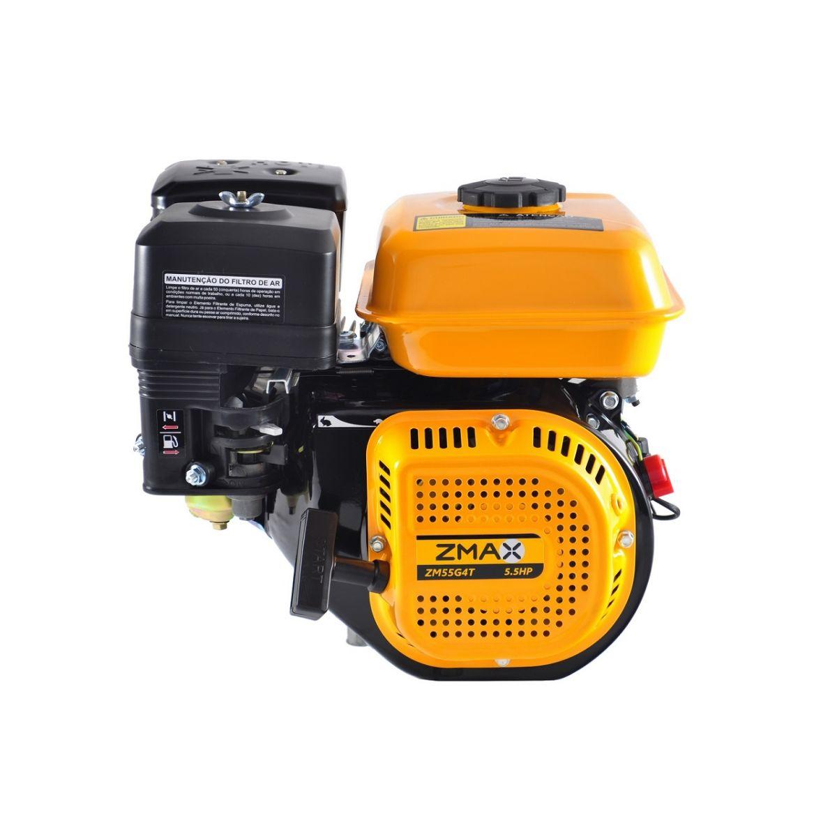 Motor a Gasolina 4 Tempos 5.5cv Partida Manual -  Zmax