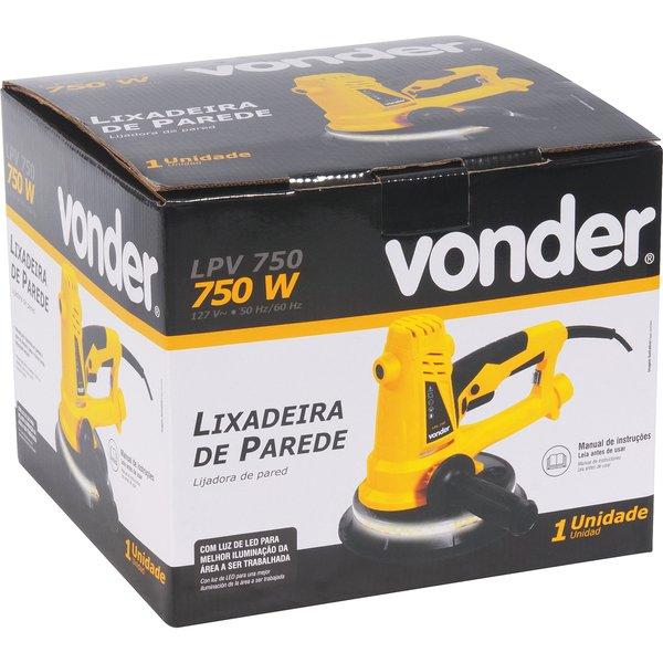 Lixadeira de Parede e Teto Lpv750 com LED - Vonder