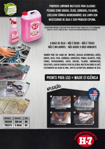 Desengraxante Removedor Multiuso Limpeza Pesada 5 Litros - H7