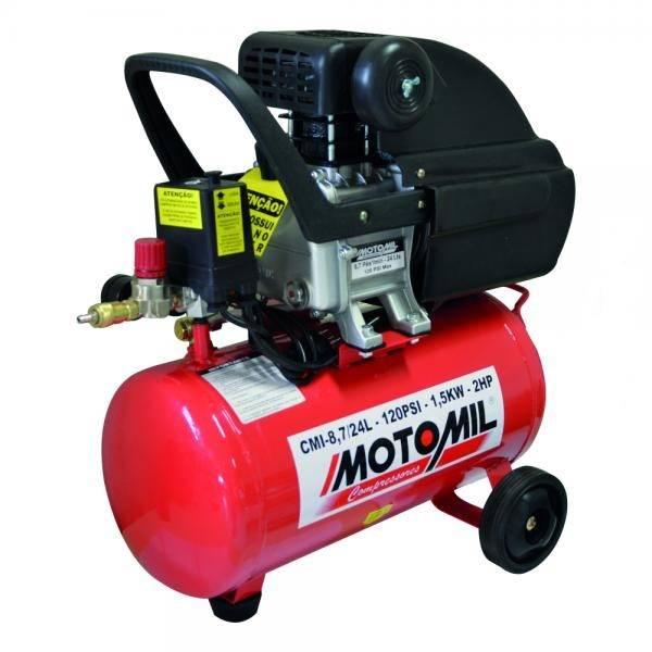 Motocompressor de Ar CMI 8,7/24 Litros - Motomil