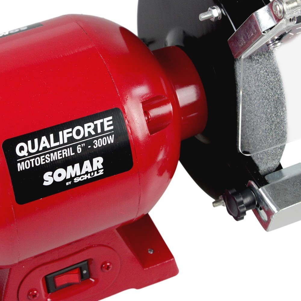 "Moto Esmeril de Bancada 6"" Qualiforte 300w - Somar"