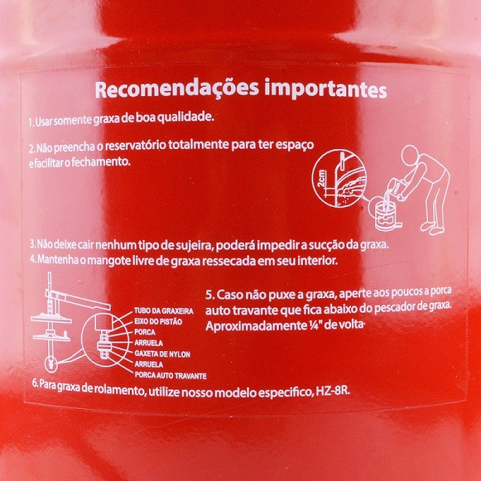 Engraxadeira Manual de Balde HL 7 Mangote 1,5m Hydronlubz