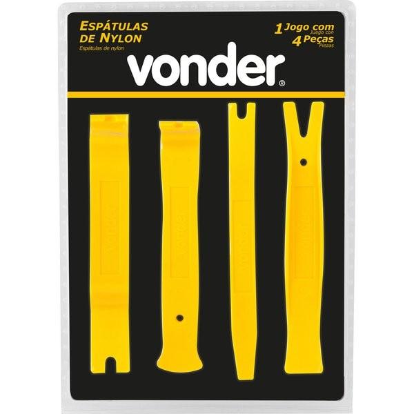 Espátulas de Nylon 4 peças Uso Automotivo - Vonder