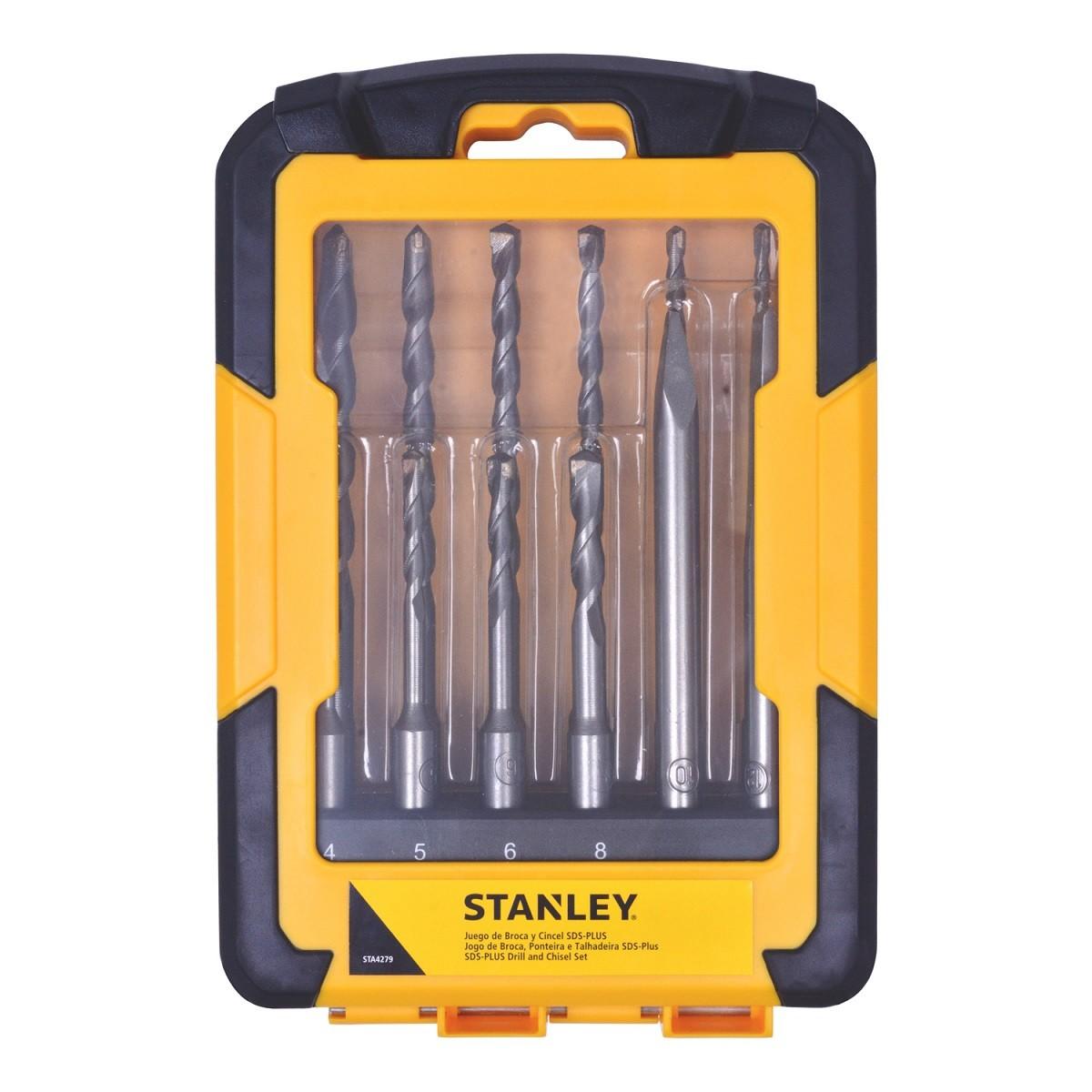 Jogo de Broca, Ponteira e Talhadeira 12 Peças SDS Plus Stanley