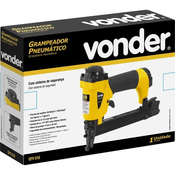 Grampeador Pneumático Capacidade 6 A 16 Mm Gpv616 Vonder