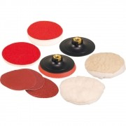 Jogo de Discos e Suporte para Lixar e Polir 9 peças 4.1/2 - Vonder