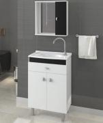 Armário para Banheiro com Espelheira -Linha Corupá 55