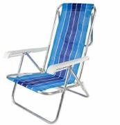 Cadeira Reclinável em Alumínio 8 posições Cores Sortidas