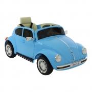 Carro Beetle Fusca Elétrico Infantil 12V Azul Bel