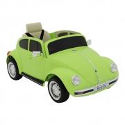"""Carro Beetle """"Fusca"""" Elétrico Infantil 12V Verde Bel"""