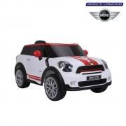 Carro Mini Paceman Elétrico Infantil 12V Branco Bel