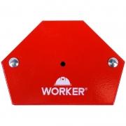 Esquadro Magnético Hexagonal 30Kg Worker