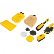 Kit Para Limpeza 10 pçs Automotiva Shampo + Pretinho Menguiars