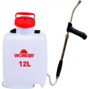 Pulverizador Manual 12 Litros Com Lança de Cobre Worker