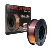 Rolo De Arame Solda Mig 0.8mm - 5kg V8 Brasil - Uso Com Gás
