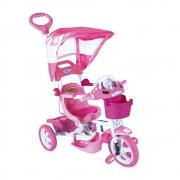 Triciclo Infantil E.T com Capota Rosa Passeio e Pedal Bel