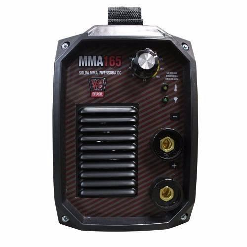 Máquina De Solda Inversora MMA 165 220v Com Alça - V8 Brasil