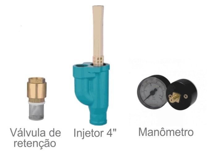 Motobomba Injetora Poço Profundo 1hp Bivolt Monofásica - Claw