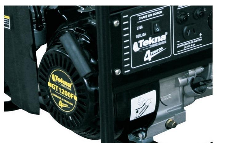 Gerador De Energia a Gasolina 1200w 4T 2,4hp 110v - Tekna