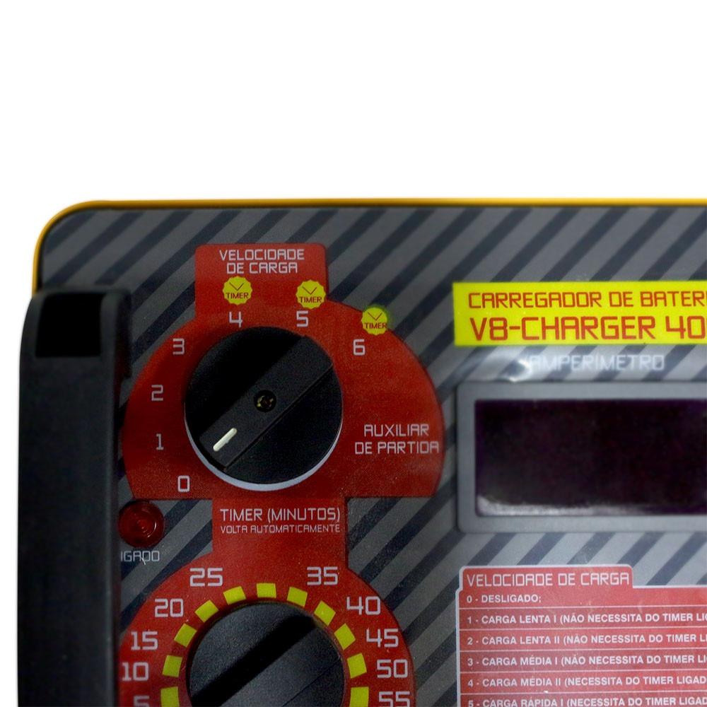 Carregador De Baterias 110v Charger 400 - V8 Brasil