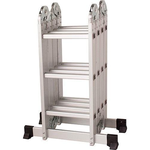 Escada 4x3 12 Degraus Multifuncional Articulada Plataforma - Mor