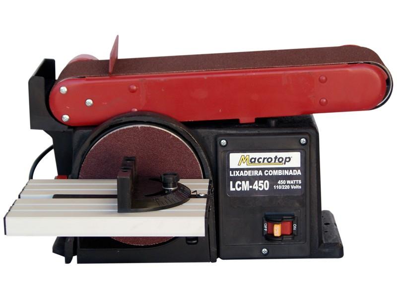 Lixadeira Combinada 375w LCM-450 - Macrotop